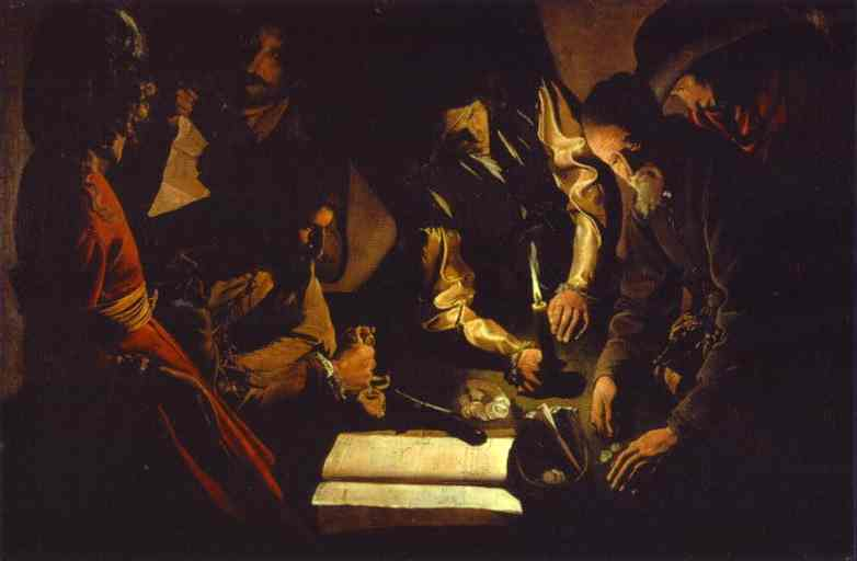 Oil painting:Paid Money, also called The Money-lender, also called The Payment of Taxes. c. 1625