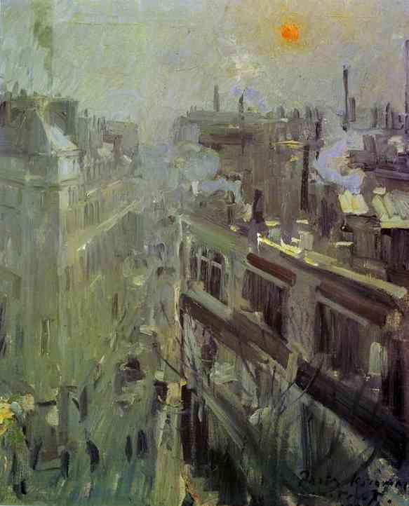 Oil painting: Paris. 1906