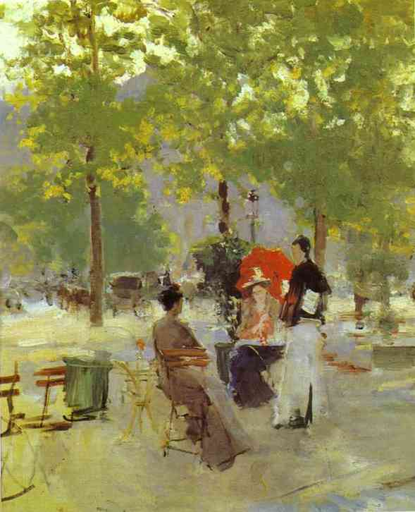 Oil painting: Parisian Cafe. Late 1890