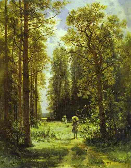 Paintings of Forest Paths Oil Painting:path in a Forest