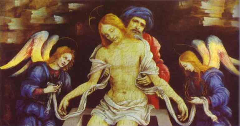 Oil painting:Pieta. c.1490