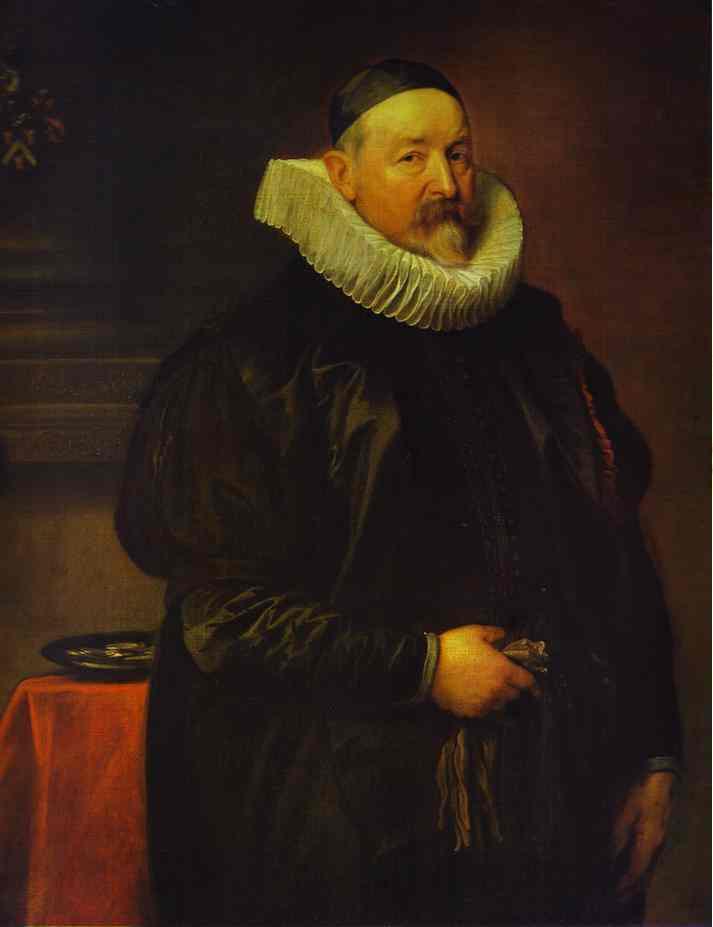 Oil painting:Portrait of Adrian Stevens. 1629