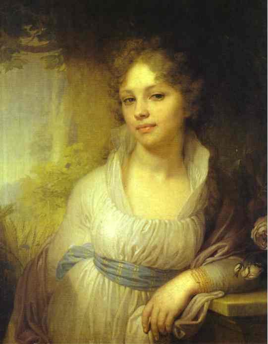 Oil painting:Portrait of M. I. Lopukhina. 1797