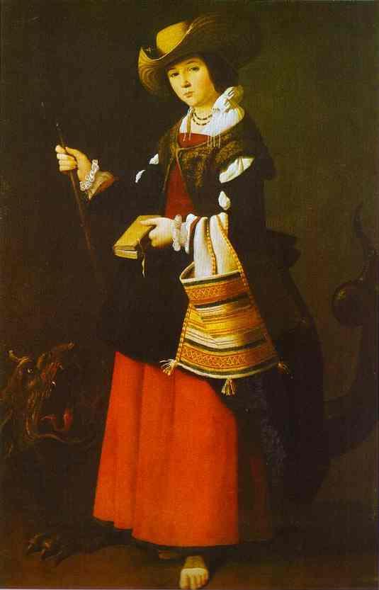 Oil painting:St. Margaret. c. 1630