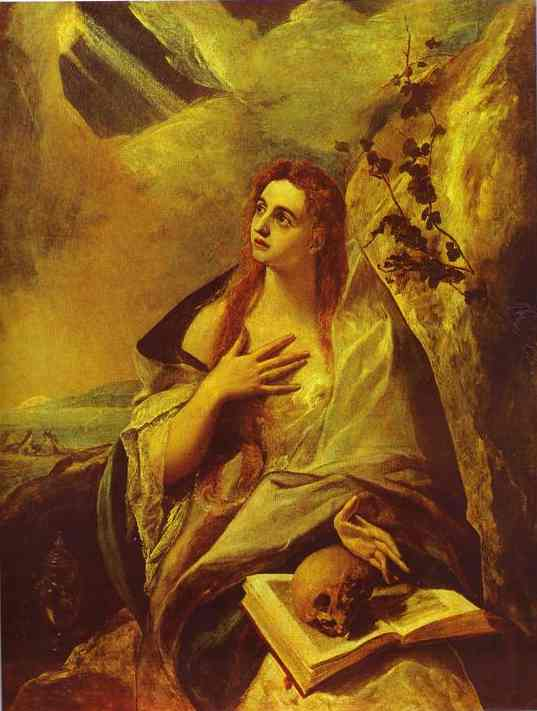 Oil painting:St. Mary Magdalene. 1576-1578