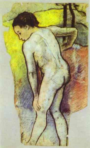 Oil painting:Study for the Bathers. 1886