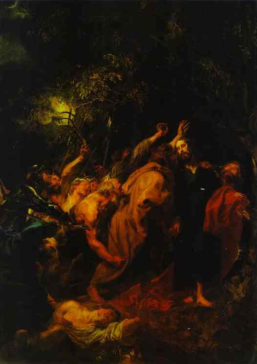 Oil painting:The Arrest of Christ.