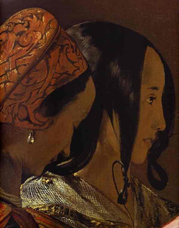 Oil painting:The Fortune-Teller. Detail. c. 1632