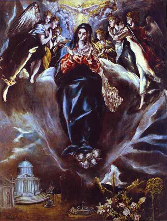 Oil painting:The Immaculate Conception. 1610s