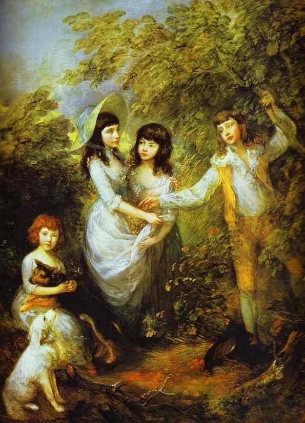 Oil painting:The Marsham Children. 1787