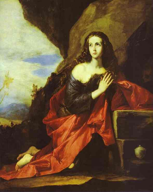 Oil painting:The Penitent Magdalen. 1641