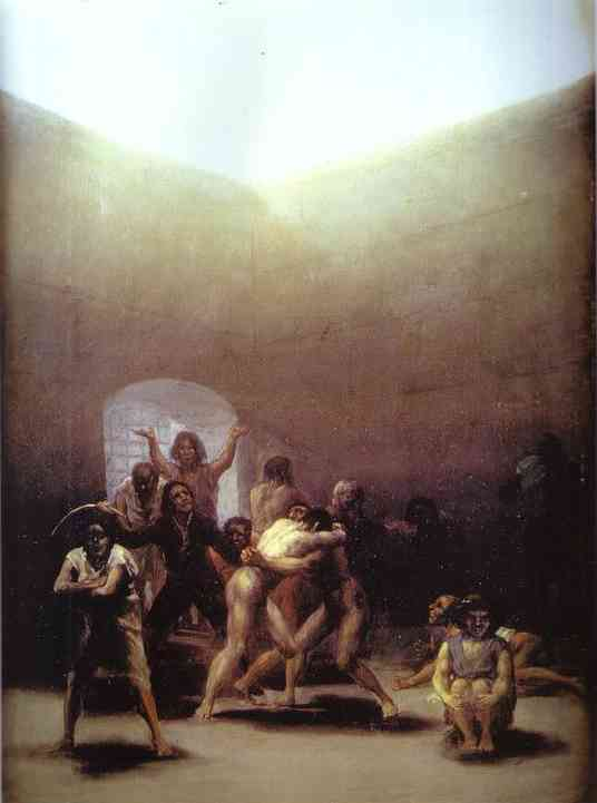 Oil painting:The Yard of Madhouse. 1794