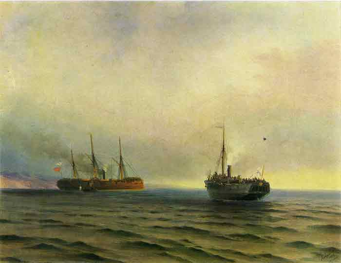 Oil painting for sale:Capture of the Turkish Transport Mersina, 1877