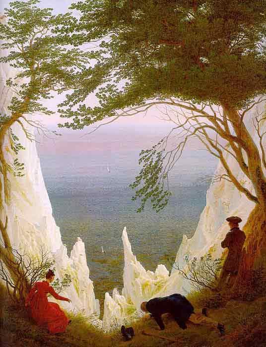 Oil painting for sale:Chalk Cliffs on R?gen, 1818-1819