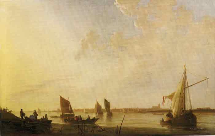 Oil painting for sale:Dordrecht: Sunrise, 1650