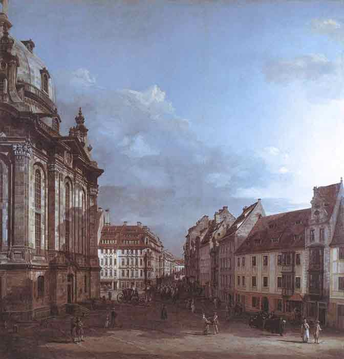 Oil painting for sale:Dresden, the Frauenkirche and the Rampische Gasse, 1749-1753