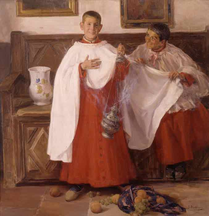 Oil painting for sale:Monaguillos [Altar Boys], 1871