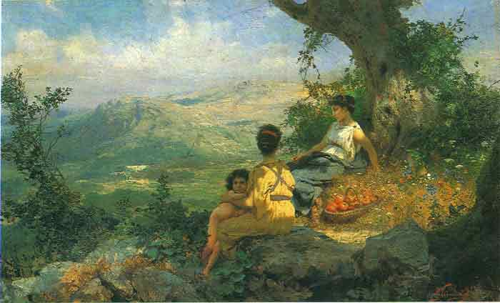 Oil painting for sale:Rest, 1896