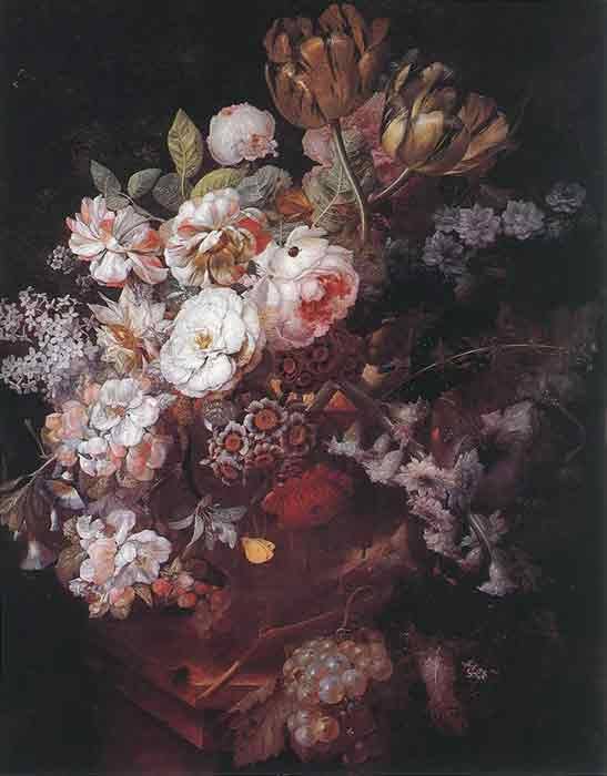 Oil painting for sale:Vase with Flowers, 1726