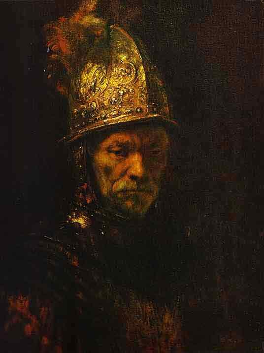 Man in a Gold Helmet. c. 1650