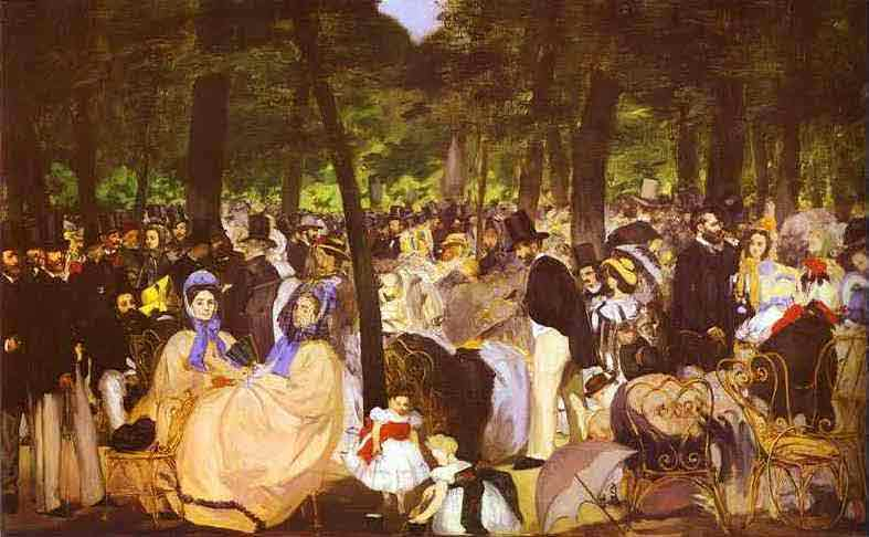 Music in the Tuileries Gardens. 1862