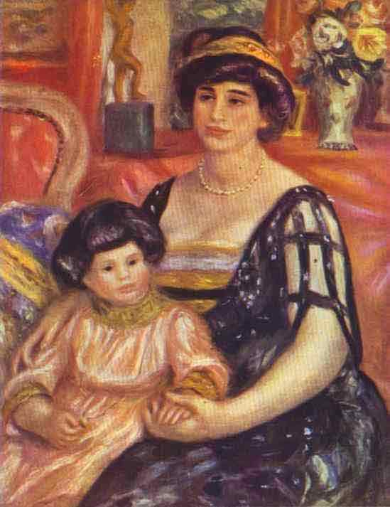 Portrait of Madame Duberville with Her Son Henri. 1910
