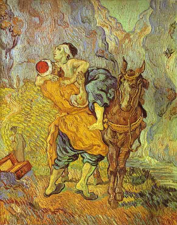 The Good Samaritan (After Delacroix). Auvers-sur-Oise. May 1890