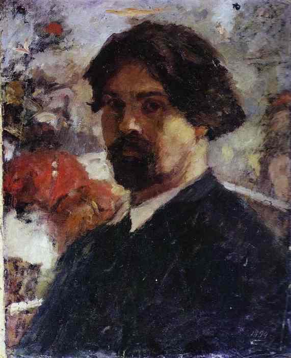 Oil painting:Self-Portrait. 1894