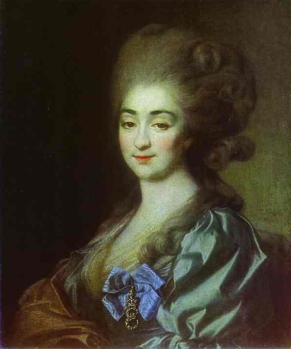 Oil painting:Portrait of Princess P. N. Repnina. 1781