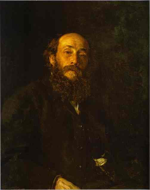 Oil painting:Portrait of the Artist Nikolay Gay. 1880