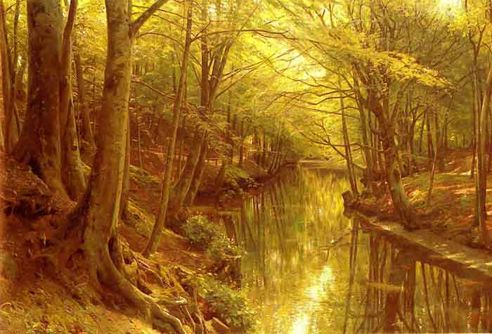 Oil painting for sale:A Woodland Stream, 1923