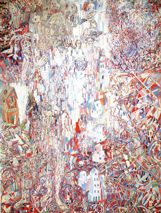 Oil painting:Formula of the Petrograd Proletariat. 1920