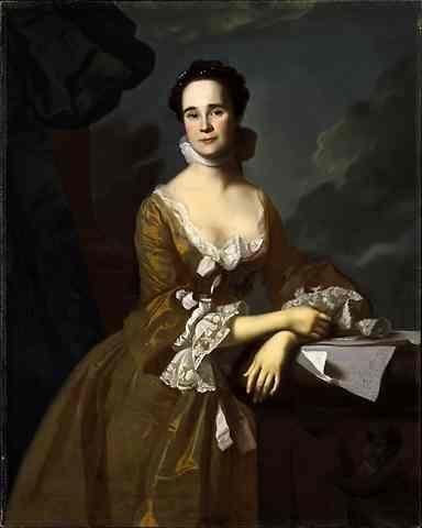 Oil painting:Portrait of Mrs. Daniel Hubbard. c. 1764