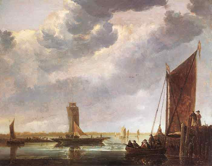 Oil painting for sale:The Ferry Boat, 1652-1655