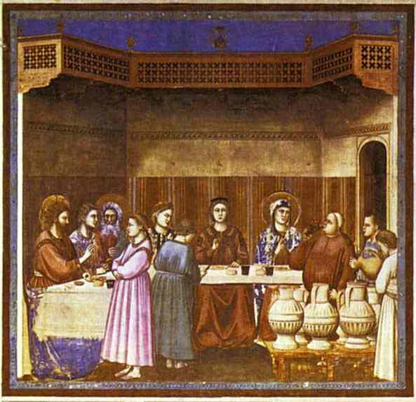 Oil painting:The Wedding Feast at Cana. 1304