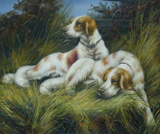 Oil painting for sale:dogs-022
