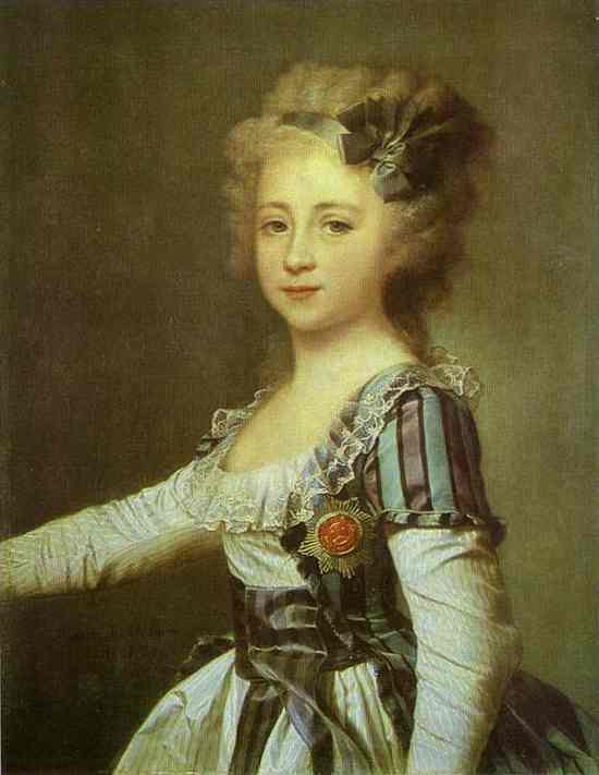 Oil painting:Portrait of Grand Duchess Elena Pavlovna as a Child. 1791