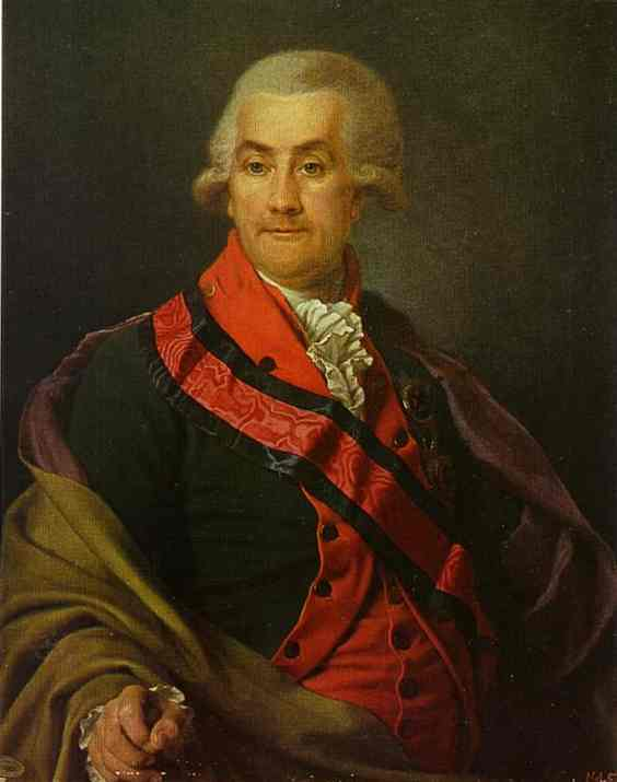 Oil painting:Portrait of I. A. Igelstrom. 1790