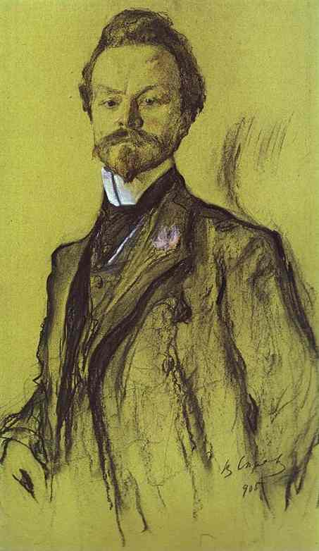 Oil painting:Portrait of the Poet Konstantin Balmont. 1905