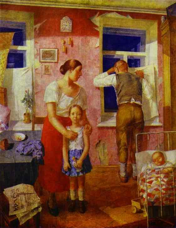 Oil painting:1919. Alarm. 1934