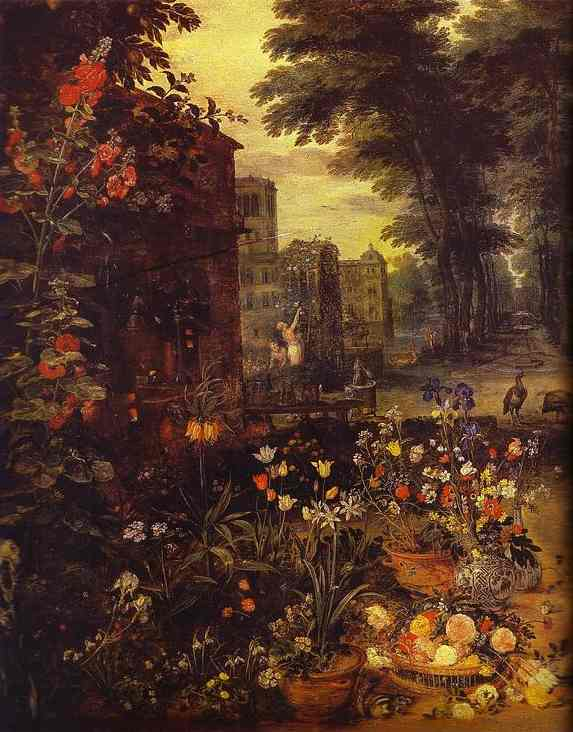 Oil painting:Allegory of Smell. 1618