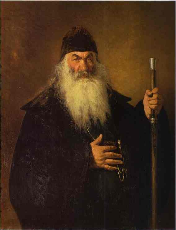 Oil painting:An Archdeacon. 1877