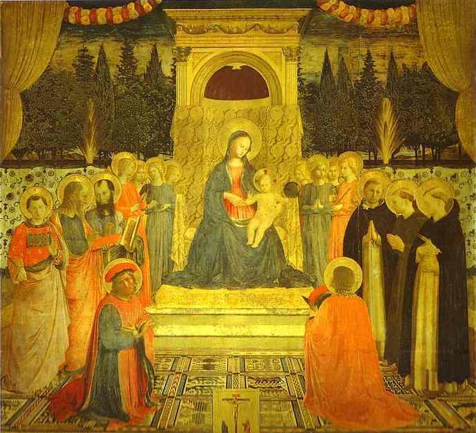 Oil painting:Annalena Altarpiece. c. 1437