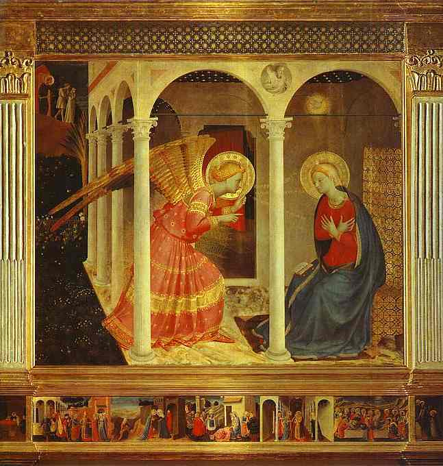 Oil painting:Annunciation. c.1432