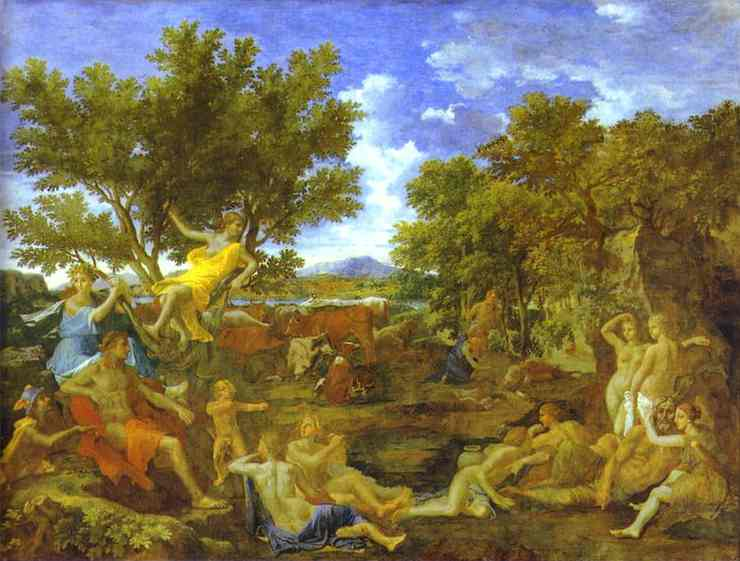 Oil painting:Apollo and Daphne. 1664