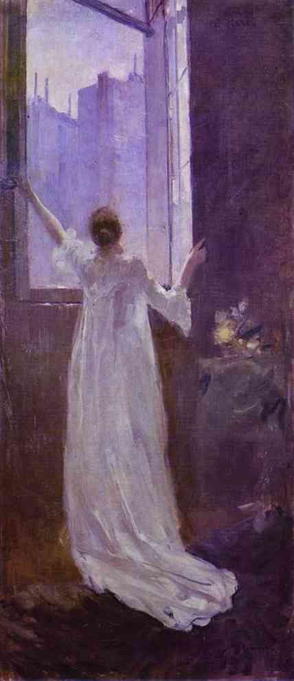 Oil painting: At the Window. 1893