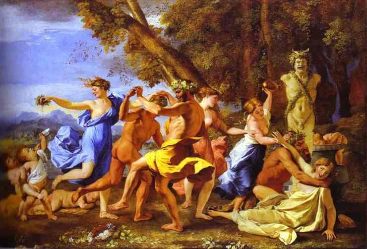 Oil painting:Bacchanalia. 1631