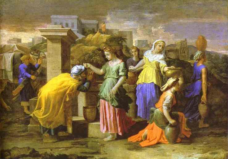 Oil painting:Eliezer Meets Rebecca. 1659