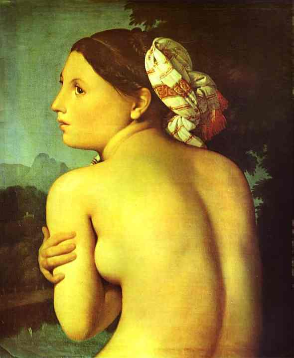 Oil painting:Half-figure of a Bather. 1807