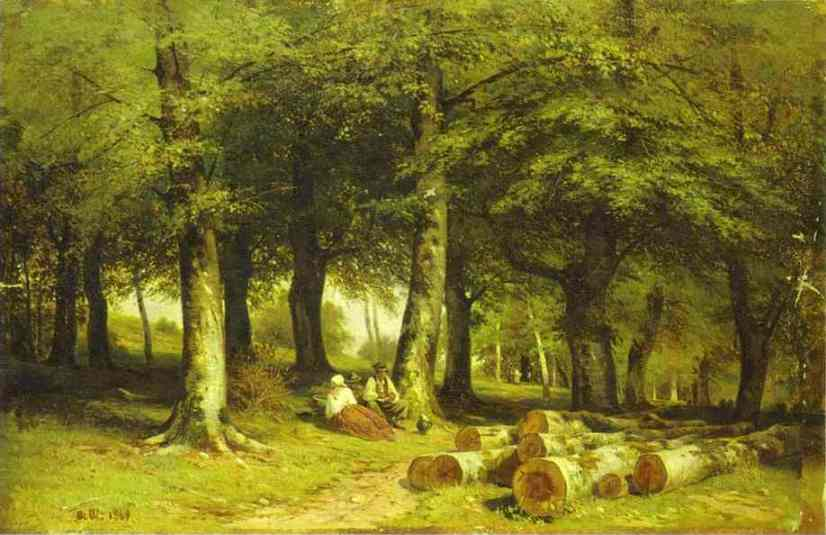 Oil painting:In the Grove. 1869